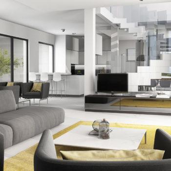 Moderne Wohnkueche