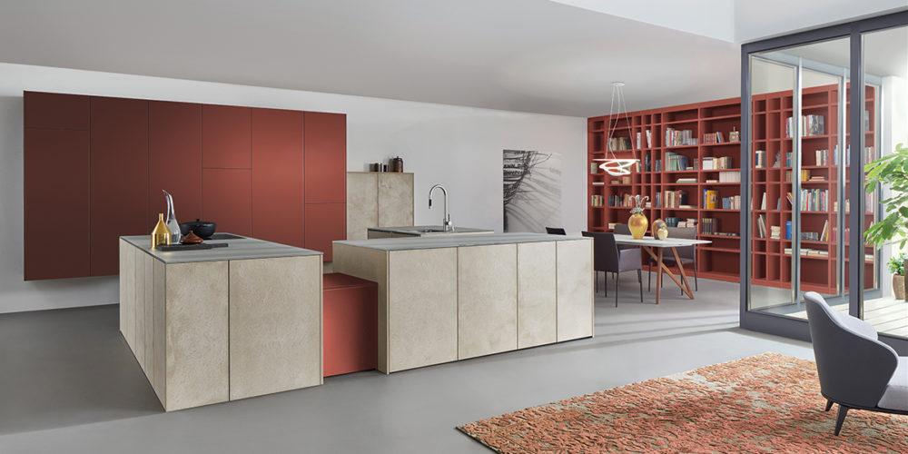 moderne Küche mit Betonoptik